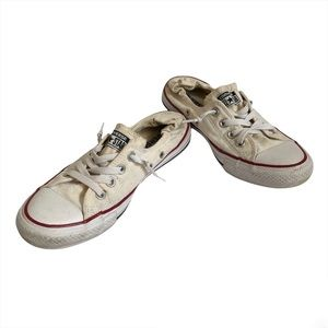 CONVERSE ALL STAR Classic Slip On Lace Up Sneakers Shoes White